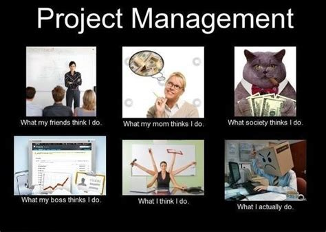 Meme Project Manager - friday funny societies view of project management humor