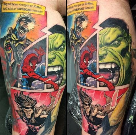comic book tattoo designs marvel tattoos for ideas and inspiration for guys