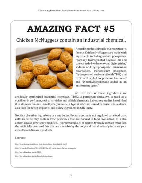 8 Food Facts by 25 Amazing Facts About Food