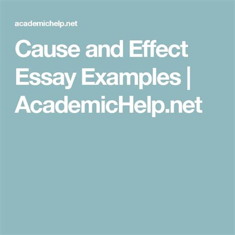 Cause Effect Essay Topic Sentence by 25 Best Ideas About Cause And Effect Essay On Essay Writing Skills Writing