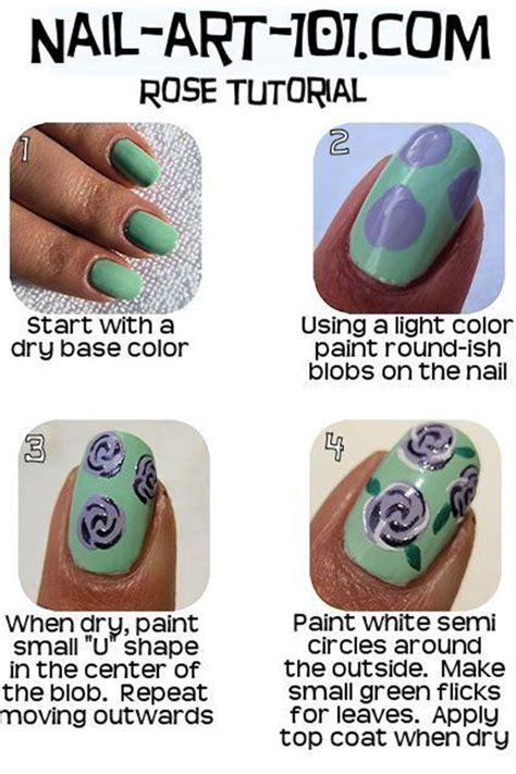 easy nail art tutorial for beginners 25 easy simple spring nails art tutorials for beginners