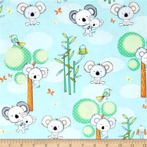 home decor fabric online australia koala party koalas light blue discount designer fabric