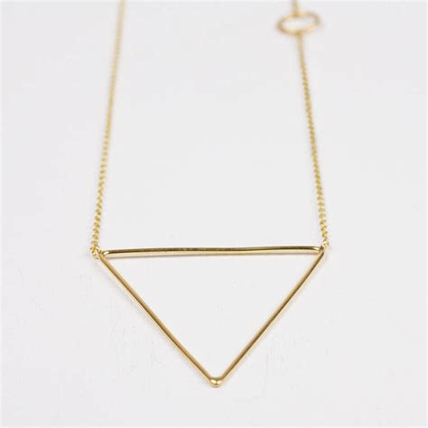 gold pyramid necklace by bohemia notonthehighstreet