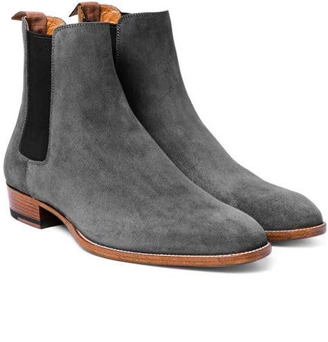 handmade s fashion gray chelsea boots gray