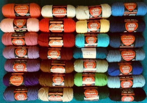 redheart yarn colors supersaver 5 to 8oz skeins acrylic yarn new