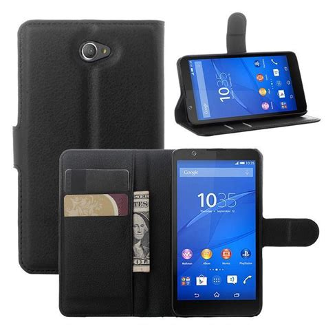 Protector With Stand For Sony Xperia E4 for sony xperia e4 new 2014 fashion luxury flip leather wallet stand phone cover cell for