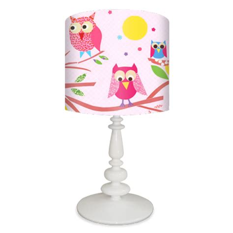 Baseball Theme Bedroom owls on a branch lamp on pink base by oopsy daisy