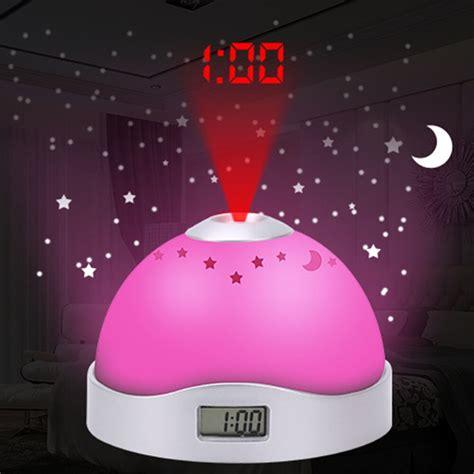 creative alarm clock star moon time projection clock