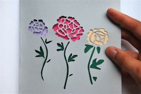Paper Cutting Flowers Crafts - make stunning papercut wedding invitations