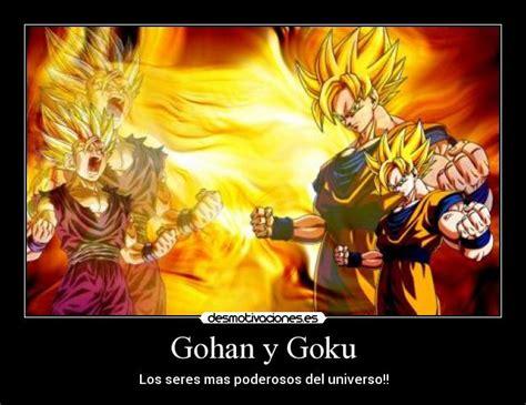 imagenes de goku malo gohan y goku desmotivaciones
