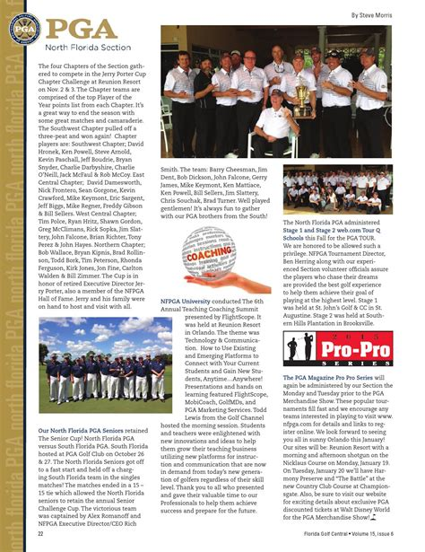 north florida pga section golf central magazine vol 15 issue 6 interactive by