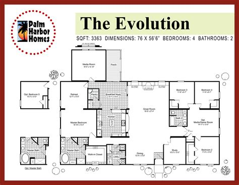 the floor plan for the evolution model home by palm harbor evolution palm harbor homes tx