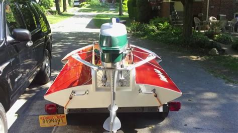 wooden hydro boat plans vintage hydro built from hal kelly boat plans powered by a