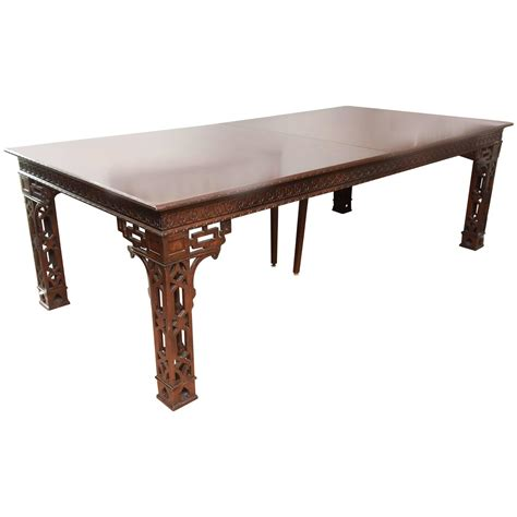 vintage chippendale dining conference table for