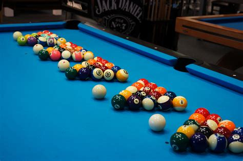 how to set up a pool table what are the differences between types of pool and snooker