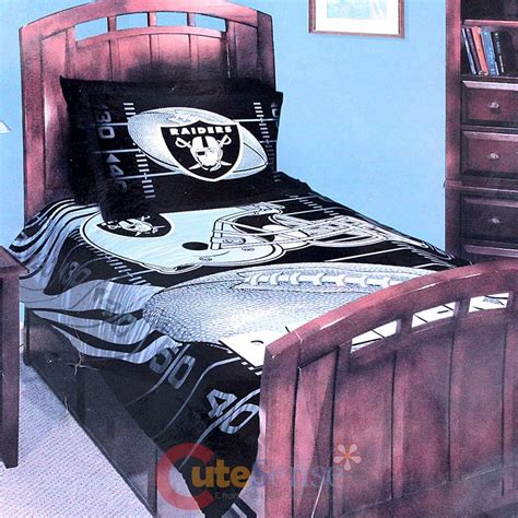 raiders bedding nfl oakland raiders twin bedding comforter set 3pc with