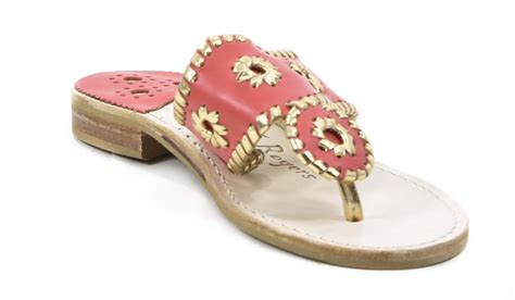 coral flat sandals rogers womens nantucket gold coral flat sandals