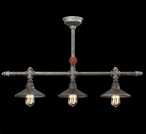 Contemporary Lighting Chandeliers Zinco 3 Light Large Contemporary Linear Chandelier Grand Light