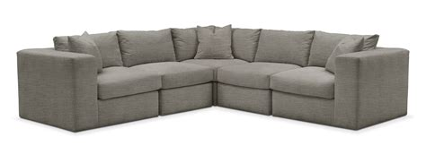 victory sectional collin 5 pc sectional cumulus in victory smoke