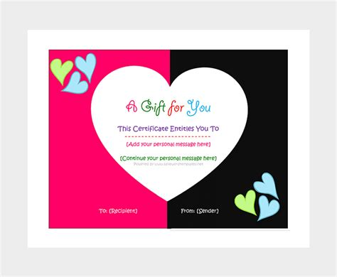 personal gift certificate template 44 free printable gift certificate templates for word pdf