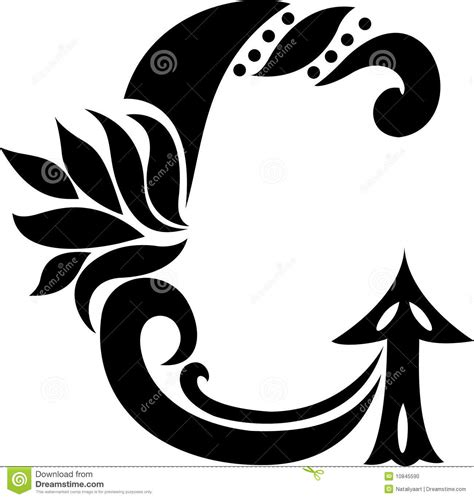antique curl letter g stock vector image of curve leaves
