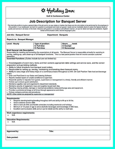 cocktail server resume skills to convince restaurants or caf 233
