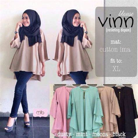 New Vinn Blouse E0fd Atasan Muslim Remaja New Vinn Blouse Model Baju Gamis