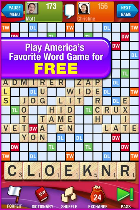 scrabble for one free scrabble free ios