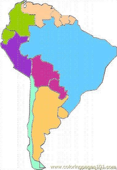 america map in color best photos of colored blank map south america printable
