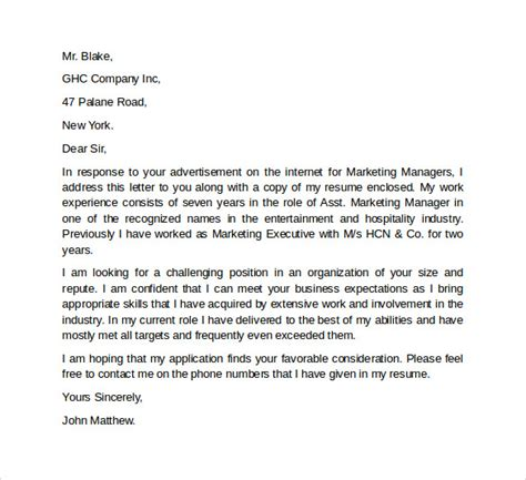 cover letter for marketing executive fresher beautiful cover letter for marketing executive 29 on