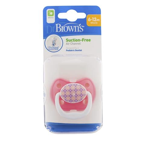 Dr Brown 39 S 1 Pack Prevent Pacifier Stage 1 0 6m Blue dr brown s prevent classic shield pacifier stage 2 6 12m pink 1 pack feeding