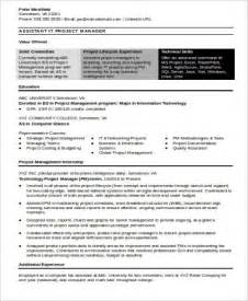 Resume Project Manager Assistant Sle It Project Manager Resume 9 Exles In Word Pdf