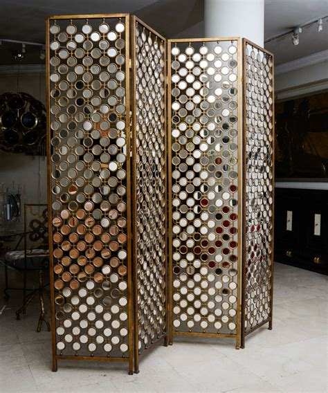 decorating unique style mirrored room divider home thehoppywanderercom