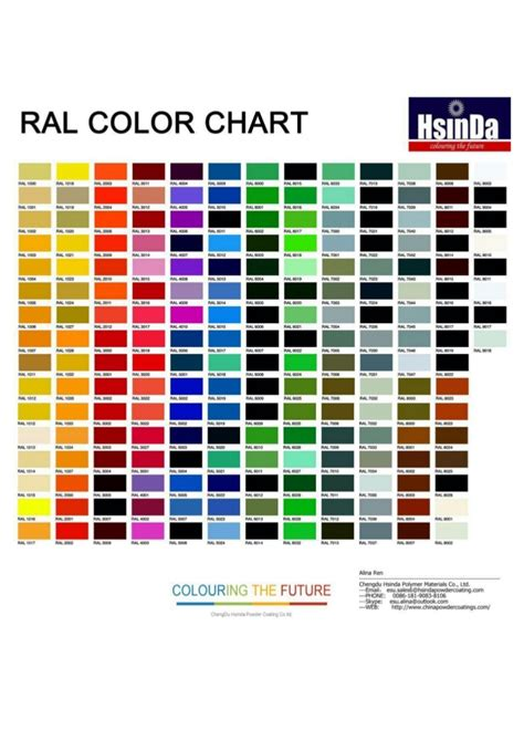 gcmi colors hsinda powder coating color chart pdf