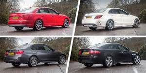 Audi A4 Vs Bmw 3 Vs Mercedes C Audi A4 Vs Mercedes C Class Vs Bmw 3 Series Vs Jaguar Xe