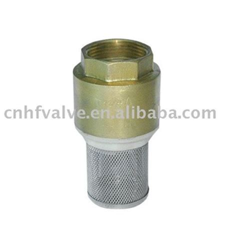 Foot Valve Stainless Steel brass foot valve with stainless steel strainer buy brass