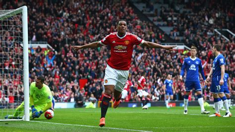 anthony martial scores manchester uniteds  home