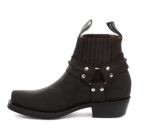 unisex real leather biker ankle boots rock grinders