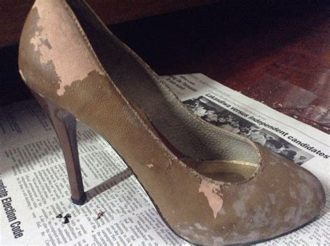 how to repair leather shoes fix your peeled leather shoes heels in a cheap way