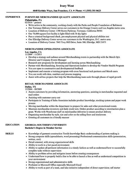 Merchandise Associate Sle Resume by Merchandise Associate Resume Sles Velvet