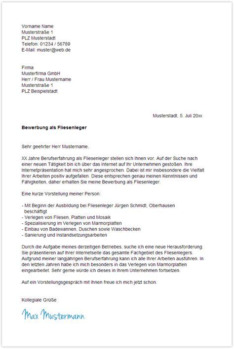 Bewerbung Fur Fliesenleger Ausbildung bewerbungsschreiben schluss bewerbung deckblatt 2018