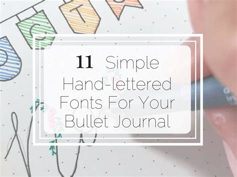 simple hand lettered fonts   bullet journal