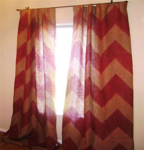 burlap chevron curtains 24 best images about patio door on pinterest sliding