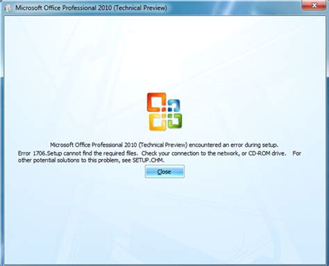 Cd Drive Microsoft Office microsoft office professional 2010 technical preview encountered an error during setup