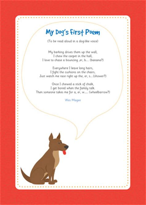 early learning resources  dogs  poem eyfs  ks