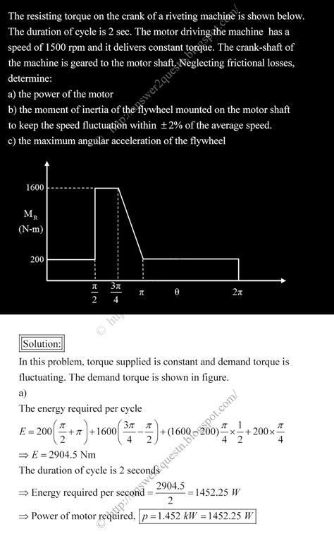 dynamic tutorial questions questions answers flywheel tutorial problem solution