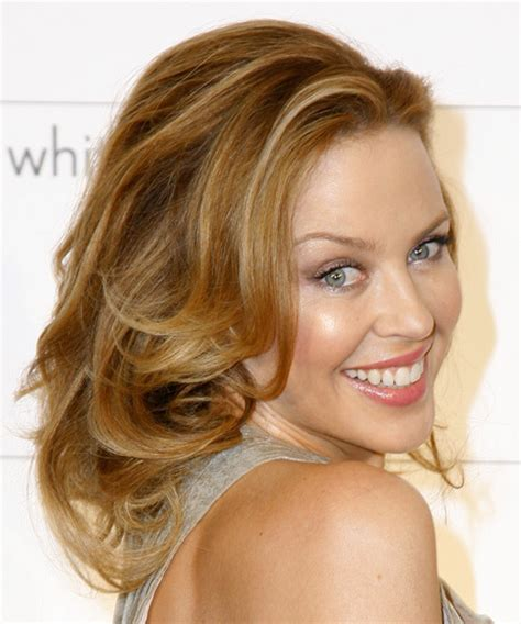 Kylie Minogue Long Wavy Formal Hairstyle