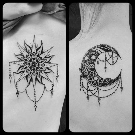 matching sun and moon tattoos best 25 tattoos for friends ideas on matching