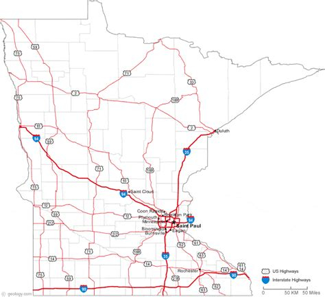 map of mn highways map of minnesota