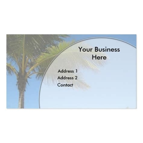 palm card templates palm tree business card templates zazzle